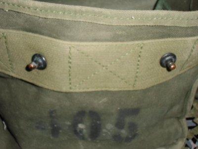 画像1: 米軍放出品,BAG,COTTON DUCK