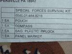 画像2:  米軍放出品,SPECIAL FORCES SURVIVAL KIT (2)