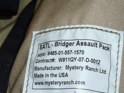 画像2: 米軍実物 MYSTERY RANCH ミステリーランチ SATL. Bridger アサルトパック
