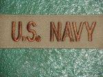 画像1: 米軍実物  US NAVY ワッペン  (1)