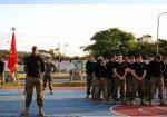 画像6: 海兵隊実物 ジャングル ウォーフェア トレーニングセンター  スウェットパーカー キッズ150 (6)