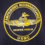 画像4: 沖縄 海兵隊実物 USMC AMPHIBIOUS  RECON スウェットパーカー L (4)