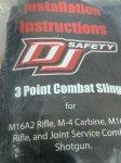 画像3: 米海軍 海兵帯実物 DJ SAFETY 3ポイントスリング (3)