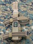 画像5: 米軍放出品 TAG社製 ユニバーサル   レッグホルスター マルチカム 右用 (5)
