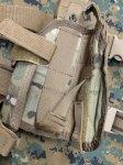 画像3: 米軍放出品 TAG社製 ユニバーサル   レッグホルスター マルチカム 右用 (3)