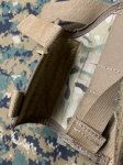 画像4: 米軍放出品 TAG社製 ユニバーサル   レッグホルスター マルチカム 右用 (4)