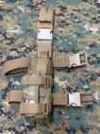 画像1: 米軍放出品 TAG社製 ユニバーサル   レッグホルスター マルチカム 右用 (1)