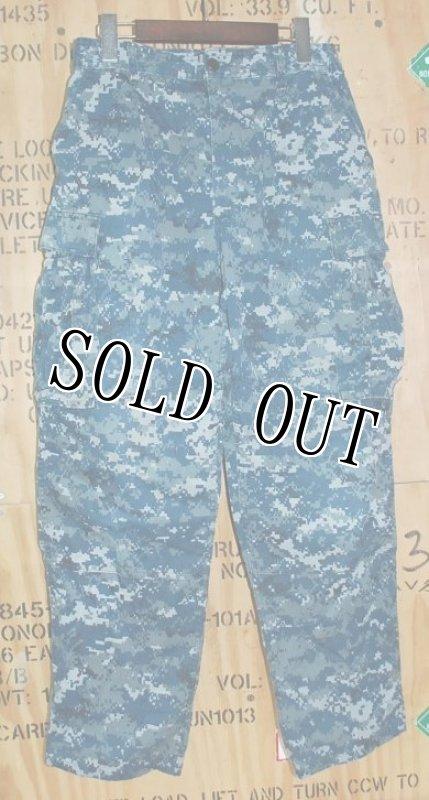 画像1: 米軍実物 US NAVY, 迷彩パンツ  (1)