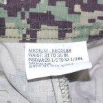 画像6: 米軍実物,US NAVY, AOR2 NUW 迷彩パンツ TYPEIII M-R (6)