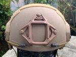 画像2: 米軍実物 OPS-CORE FAST MARITIME  マリタイム ハイカット バリスティック ヘルメット タンL/ XL (2)