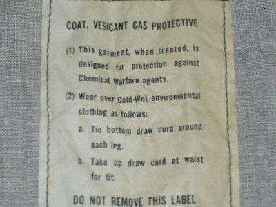 画像2: COAT,VESICANT GAS PROTECTIVE
