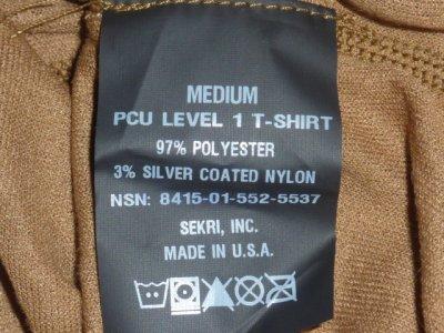 画像3: 米軍実物 特殊部隊支給 PCU LEVEL 1 T-SHIRT