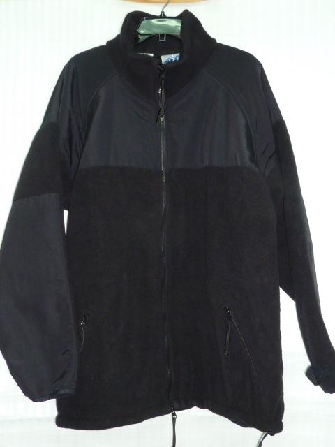 画像1: 米軍実物,ポーラテックフリース ブラック XL (1)