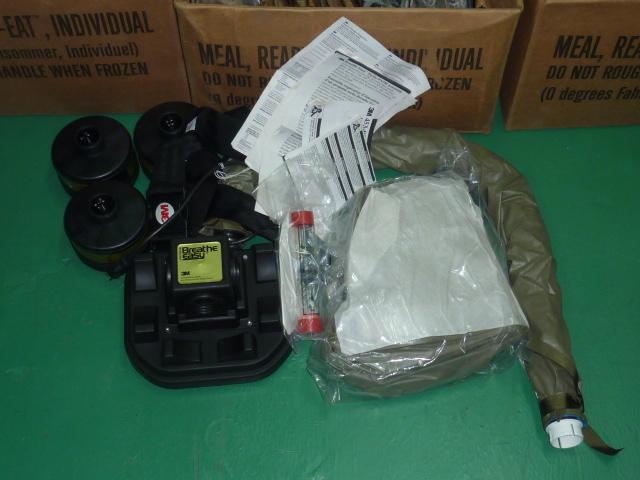 画像1: 米軍実物 3M ガスマスク BUTYL HEAD COVER  (1)