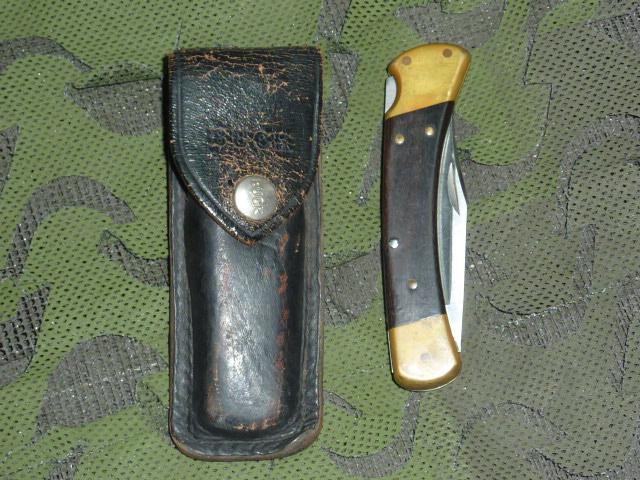 画像1: 米軍放出品 BUCK(バック) フォールディングハンター 110 (1)