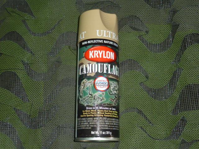 画像1: 米軍放出品,KRYLON ペイントスプレー Sand Arena (1)
