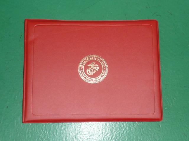 画像1: 米軍実物 USMC 証書ホルダー (1)