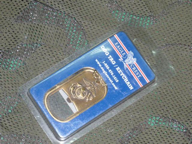 画像1: 米軍放出品 USMC 公認 DOG TAG BOTTLE OPENER  (1)