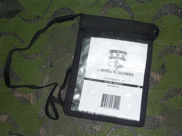 画像1: 米軍放出品,SOC パスポート ID ウォレット ネックホルダー (1)