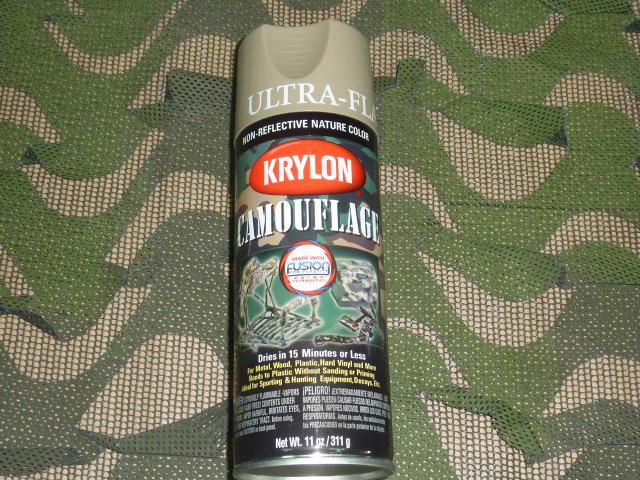 画像1: 米軍放出品,KRYLON ペイントスプレー Khaki カーキ (1)