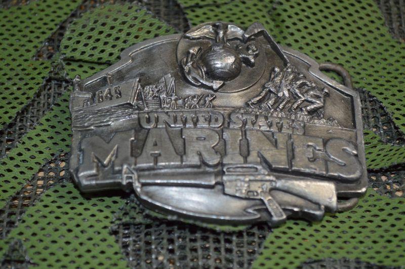 画像1: 米軍放出品.US MARINE 海兵隊 ベルトバックル (1)