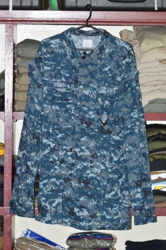 画像1: 米軍実物,US NAVY, 迷彩ジャケット M-XX Log (1)