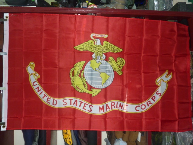 画像1: 米軍放出品,USMC フラッグ (1)