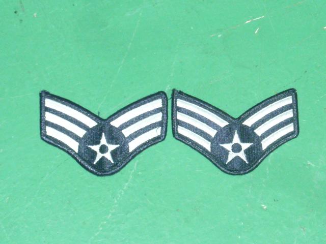 画像1: 米軍実物 U,S,A,F Senior Airman 1ペア (1)