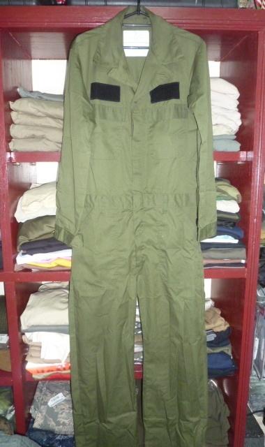 画像1: 米軍実物,カバーオール/つなぎ 38L OD (1)