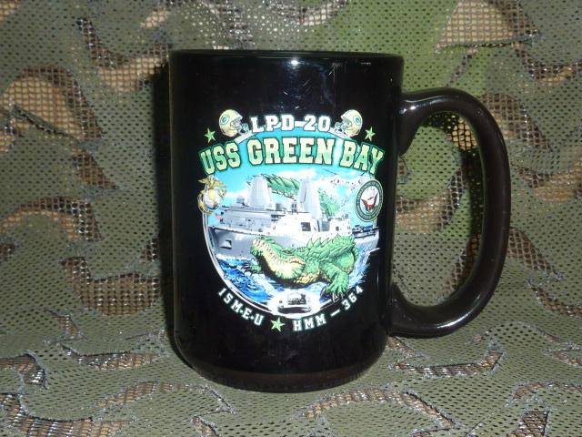 画像1: 米軍放出品,USS GREEN BAY LPD-20 マグカップ (1)