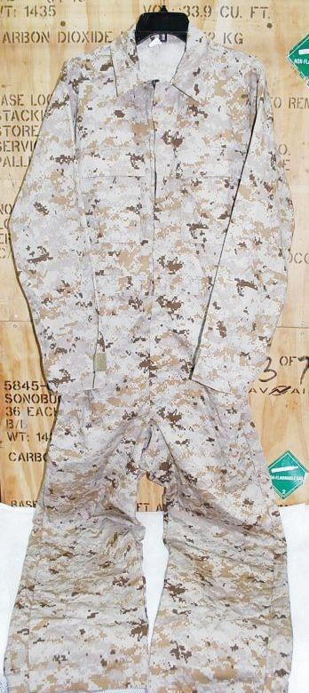 画像1: 米軍放出品,デザートピクセルカバーオール/つなぎ M (1)