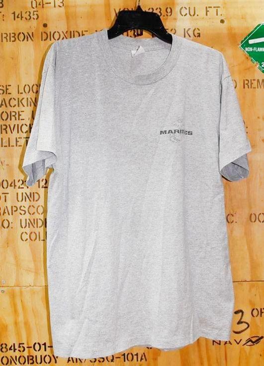 画像1: 米軍放出品,USMC Tシャツ L (1)