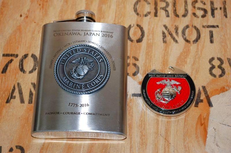 画像1: 米軍実物 海兵隊 2016 241st birthday  スキットル/オープナー (1)