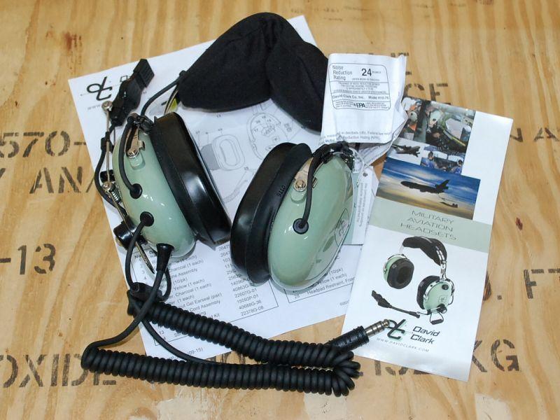 画像1: 米軍実物 David Clark  H10-76 P/N デビッドクラーク ヘッドセット (1)