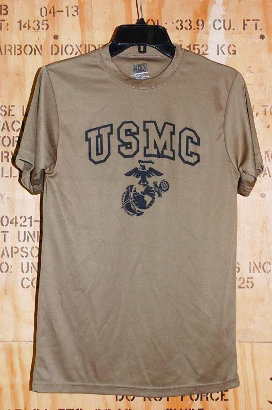 画像1: 米軍放出品 USMC Tシャツ S (1)