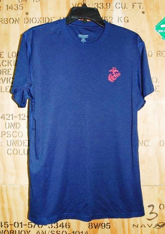 画像1: 米軍放出品 USMC Tシャツ L (1)