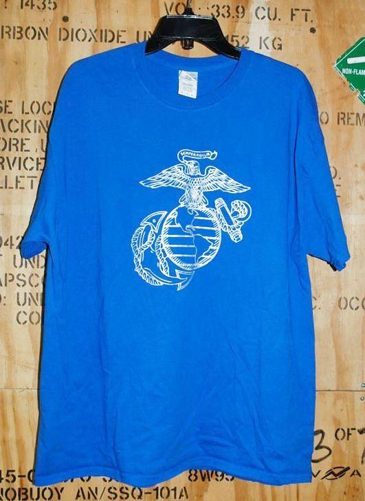 画像1: 米軍放出品,USMC Tシャツ XL (1)