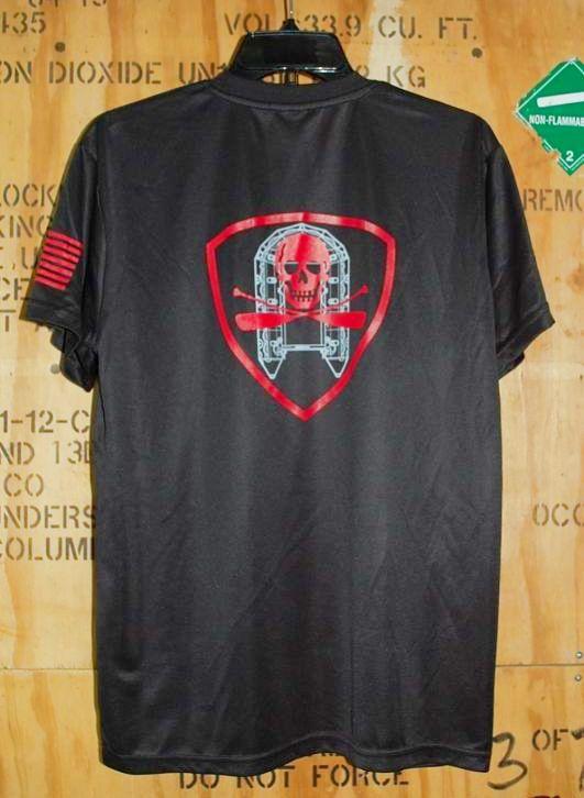 画像1: 海兵隊実物,AMPHIB LOCKER Tシャツ L RED (1)