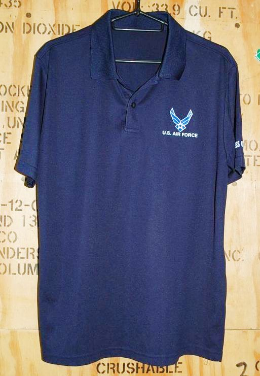 画像1: 米軍放出品,USAF ポロシャツ (1)