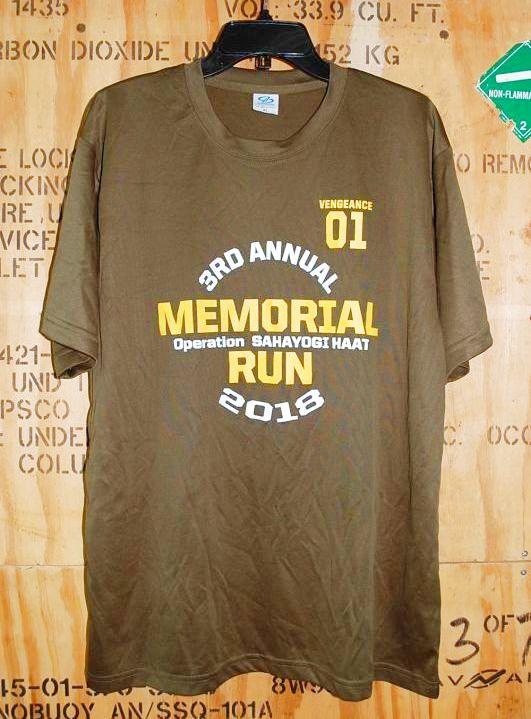 画像1: 米軍放出品,MEMORIAL RUN 2018 Tシャツ XL (1)