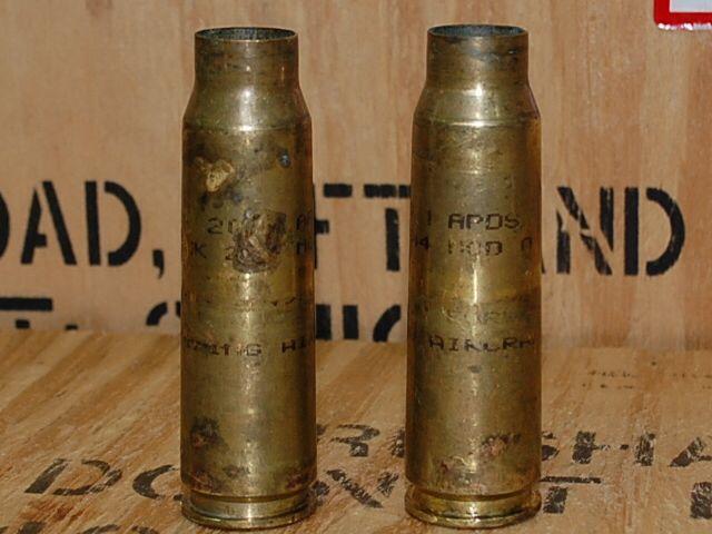 画像1: 米軍実物 20mm APDS、MK 244 MOD 0  機関砲空薬莢 使用済み 安全品 (1)