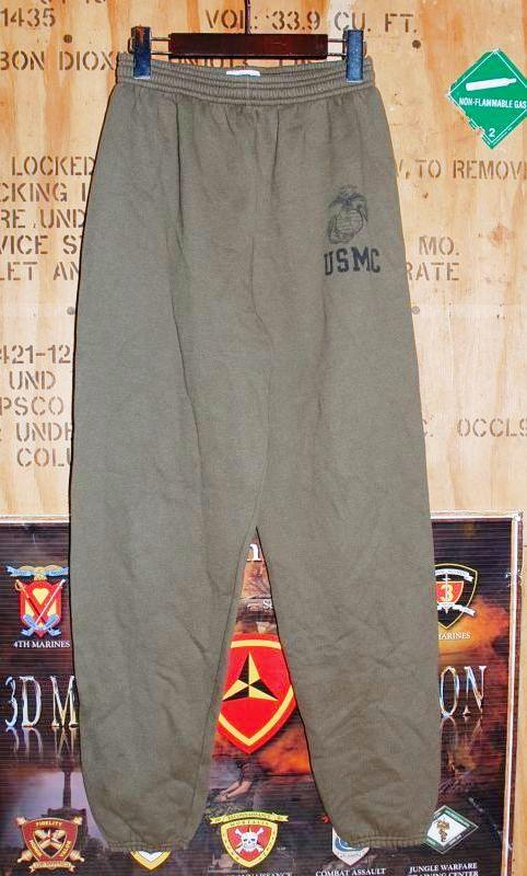 画像1: 米軍放出品.USMC スウェットパンツ M (1)
