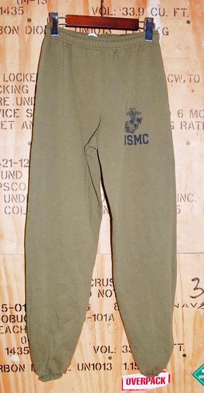 画像1: 米軍放出品.USMC スウェットパンツ S (1)