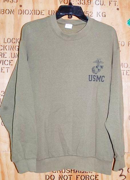 画像1: 米軍放出品 USMCスウェットトレーナー M (1)