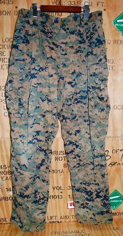 画像1: 米軍放出品,USMC ウッドマーパットパンツ BIGサイズ (1)