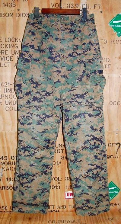 画像1: 米軍放出品,USMC ウッドマーパットパンツ S-R (1)