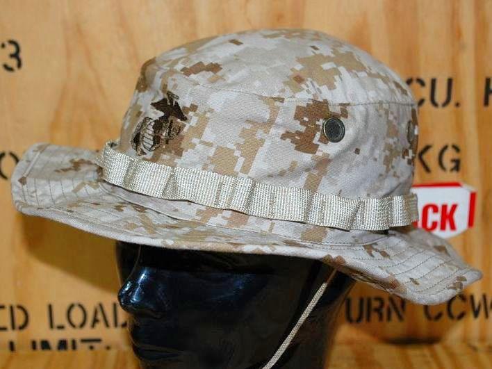 画像1: 米軍実物 デザートマーパットブーニーハット L (1)