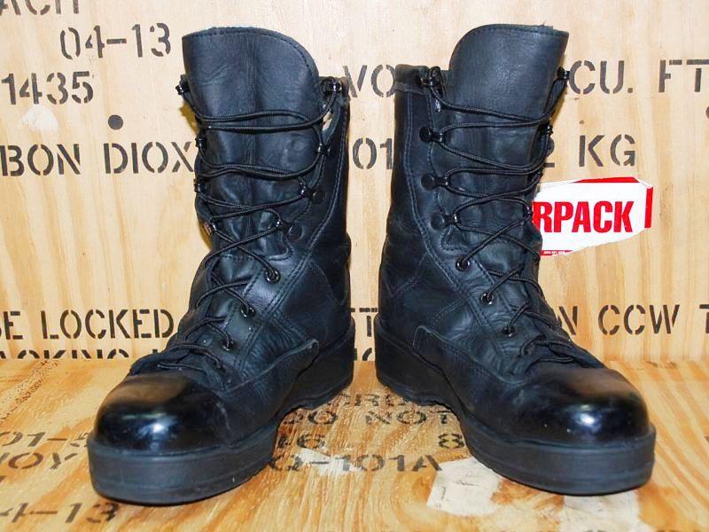 画像1: 米海軍実物 US NAVY  Waterproof Black ブーツ (1)
