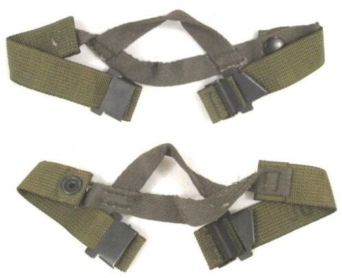 画像1: 米軍実物 HELMET  チン ストラップ M-1  (1)