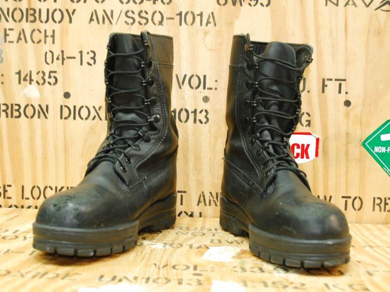 画像1: 米軍実物 BATES U.S. NAVY ブーツ 10 XW (1)